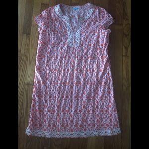 J. McLaughlin Large Tunic Coral & Pink Dress